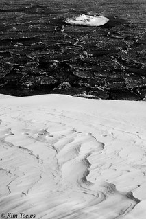 EXPLORE Yin and Yang: The Intriguing and Abstract Ice, Frost and Snowdrift Patterns - Presqu'ile Provincial Park, Ontario