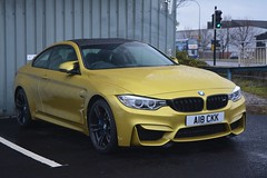 BMW M4 Coupe (CA Photography2012) Tags: a18ckk bmw m4 coupe gt luxury grand tourer sportscar yellow m3 supercar m division sport ca photography automotive exotic car spotting sheffield