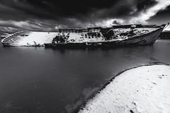 Shipwreck | February 2018 (pklopper) Tags: clouds drama ladysmith nature snow ocean boat ship vancouverisland petrusklopper nikon pk1photos blackandwhite wreck shipwreck contrast p