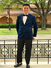Que Macho. (lorianncolon) Tags: prom seniorprom somethingblue blue tux smile myphotography photography summer picmonkey