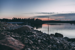 falls lake-6551 (spencer Hart Photography) Tags: sunset northcarolina raleigh canon exposrue explore lake dam rocks river lightroom adobe flow still usa nature outdoors