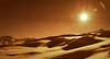 Désert de Neige (Frédéric Fossard) Tags: paysage montagne neige snow soleil sun mountain landscape contrejour texture art surréaliste abstrait chaleur lumière alpes savoie maurienne ombre shadow light ski pistedeski skitrack jaune orange ciel sky cimes vallon valley altitude horizon