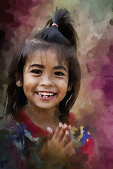 Laughing Girl (ulli_p) Tags: asia art artofimages amazingcolours aworkofart awardtree colours canon750d exoticimage flickraward girl isan likeapainting people portraits photoshop ruralthailand southeastasia thailand texture textured texturedphoto