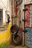 Africa (pedro katz) Tags: wdw disney animalkingdom corner door tires wall yellow red white wires sony ilce6000