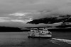 Voyage (Alison Claire~) Tags: canada ca bc british columbia north america travel travelling traveling outdoor outdoors canon canoneos canoneos600d eos eos600d 600d rebel rebelt3i alison claire vancouver clouds cloud cloudscape fog mist boat ferry ferries water ocean bay mountain mountains black white