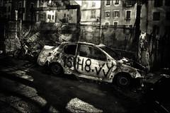 Grandeur et décadence (vedebe) Tags: monochrome sépia virage noiretblanc netb nb bw ville city rue street urbain urban abandonné
