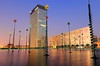 E.T Phone Home, Maybe. (Eye of Brice Retailleau) Tags: angle beauty composition landscape outdoor panorama paysage perspective scenery scenic view extérieur ciel sky backpacking earth travel vista reflection reflet mirror colourful colours light twilight sunset architecture building urban city cityscape lights citylights eau ville europe france french paris defense modern art water waterscape