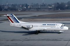 Air France / TAT Fokker 28-1000 F-GBBT (c/n 11052) (Manfred Saitz) Tags: salzburg airport szg lows air france tat fokker 28 f28 fk28 fgbbt freg
