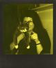 The Cat's in the Cradle (Magnus Bergström) Tags: polaroid 680 slr polaroid680slr analog instant film 600 foldable impossible project impossibleproject third man records thirdmanrecords duochrome black yellow portrait cat girl woman hair point finger paws karlstad haga värmland wermland sweden sverige polaroidslr680 idanil00