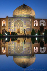 Sheikh Lotfollah Mosque At Dawn, Isfahan, Iran (Feng Wei Photography) Tags: islamicculture persianculture middleeast isfahan art persian landmark vertical colorimage dawn dome islamic silhouette mosque famousplace tranquilscene iran iranianculture travel window builtstructure islam architecture unesco sheikhlotfollahmosque tourism traveldestinations unescoworldheritagesite irn tranquility reflection