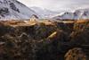 The White House, Mt. Stapafell, Arnarstapi, Snæfellsnes Peninsula, West Iceland (MelvinNicholsonPhotography) Tags: mtstapafell arnarstapi snæfellsnespeninsula westiceland iceland volcano snow ice winter house rock moss
