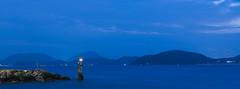 untitled (Man Wu) Tags: hongkong landscape night yellowblue lighthouse