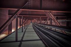 MKP (Martin Kriebernegg) Tags: urbex urban exploration found architectual building bridge lines straight metal iron hdr canon travel