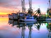 Colors Of The Night III (John E Adams) Tags: shrimpboats night nightshot dark fernandinabeach florida pier dock moored fisherman fishing boats water reflection