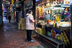 Dec 31, 2017 (pavelkhurlapov) Tags: fastfood stand women walkway alley streetphotography mongkok kowloon shop