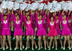 North Korean gymnasts performing during the Arirang mass games in may day stadium, Pyongan Province, Pyongyang, North Korea (Eric Lafforgue) Tags: adultsonly arirang asia asian choregraphy clothing colourimage communism dictatorship dprk festival groupofpeople horizontal largegroupofpeople massgames nk114121 northkorea northkorean peopleinarow performance propaganda pyongyang rungrado show stadium teenagegirls togetherness traveldestinations women womenonly pyonganprovince 北朝鮮 북한 朝鮮民主主義人民共和国 조선 coreadelnorte coréedunord coréiadonorte coreiadonorte 조선민주주의인민공화국 เกาหลีเหนือ קוריאההצפונית koreapółnocna koreautara kuzeykore nordkorea північнакорея севернакореја севернакорея severníkorea βόρειακορέα