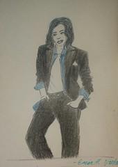 Suit (hellfire7l) Tags: tux color pencil suit lgbt drawing