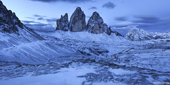Tre Cime - Dolomites - Italie (chassamax) Tags: 1x2 ble blue bluehour boyer canon6d color couleur dolomites dolomiti europe formatpaysage heurebleu italia italie italy landscape maxence maxenceboyer maxenceboyerphoto monochrome montagne mountain nature neige panorama paysage snow trecime trecimedilavaredo wwwmaxenceboyerphotocom