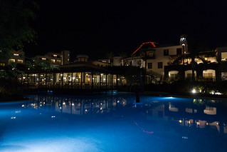 Hotel Volcan at night