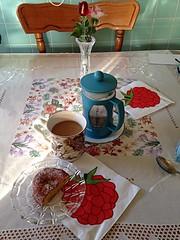 Paczki and coffee (ladybugdiscovery) Tags: coffee paczki lemon doughnut sweet treat