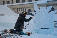 Master Ice Artist – 2 (Roy Prasad) Tags: banff lakelouise lake alberta canada prasad royprasad sony a9 a7rm3 travel ice snow sculpture cold winter artist sculptor art