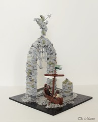 Ruins of Lythell (~The Maestro) Tags: lego castle guildsofhistorica goh ruins lythell boat sea