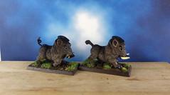 Wild-Boar-Dire-Pig-Painted-Miniature-02 (Dead Bard Miniatures) Tags: dd dungeons dragons reaper ralpartha grenadier warhammer wotc chainmail pathfinder painted miniature mini