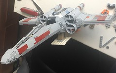 x-wing 008 (atlas_er) Tags: star wars episode 4 5 6 iv v vi red five squadron x wing xwing incom t65 t 65 t65b luke skywalker starfighter fighter ship lego moc space t65ca2 new hope battle yavin endor model minifig scale rogue one scarif blue