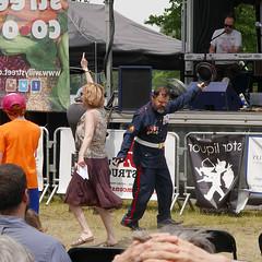 SGT.  PEPPER (Rob Patzke) Tags: dancing concert festival lx100 beatles costume hippie banner lumix madison yahara