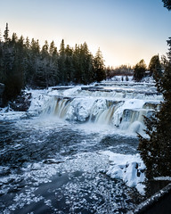 Lepreau Falls with a hint of sunset (BrianWalsh12) Tags: ifttt 500px landscape winter waterfall ice long exposure nb new brunswick natre