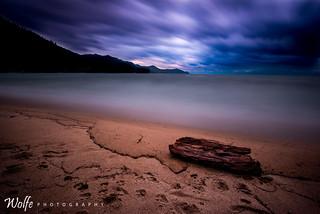 stormy sand harbor