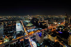 Big City Lights II || Bangkok || Thailand (ton1.werner) Tags: capturemoments longexposure cityscape view lebuastatetower nightview nightsky bangkok asia thailand
