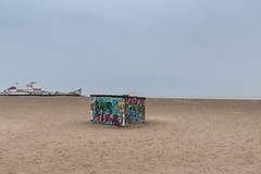 Sand Art (Number Johnny 5) Tags: hut d750 colours art pier grafitti space tones light urban imanoot topographics desolate shed beach deserted tamron 2470mm documenting johnpettigrew seaside