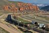 A Town Called Echo (jamesbelmont) Tags: unionpacific autotrain sd70m aammi echo utah evanstonsub coalville echodam interstate84 rural farm echocliffs