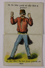 Karte 7 (gripspix (OFF)) Tags: fragantwortspiel josefscholzverlag mainz partygame tablegame gesellschaftsspiel vintage alt 19thcentury um1900 card karte example beispiel