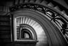 Deco spiral (Tom Birtchnell) Tags: interior artdeco architecture indoor staircase monochrome blackandwhite