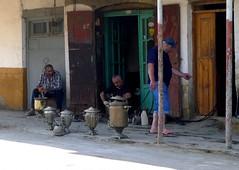 Derbent. People. Торговцы утварью (rustamsad) Tags: derbent dagestan summer hot street streetphotography streуt stphotographia lumix leica lx5 lumixlx5