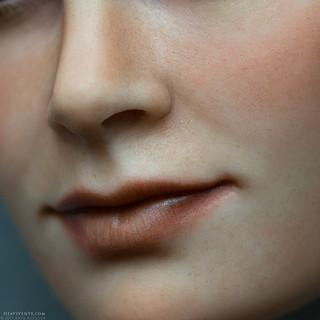 Super macro face texture