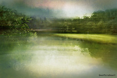 Arising Summer Thunderstorms Abstract (Brigitte Graf) Tags: tree sky landscape thunderstorm gewitter tempest abstract blur motion summer lake see bavarian munich münchen lichtung clearing photoshop art artist composition manipulation colour color digital creative artistry mystic surreal water
