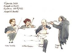 Quatuor Artemis (gerard michel) Tags: sketch croquis musiciens concert artemis aquarelle watercolour