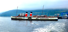 Scotland West Highlands Argyll the paddle steamer Waverley docked at Dunoon pier 22 August 2017 by Anne MacKay (Anne MacKay images of interest & wonder) Tags: scotland west highlands argyll clyde paddle steamer waverley docked dunoon pier xs1 22 august 2017 picture by anne mackay