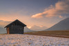 Golden Hour (ludwigriml) Tags: acres agicuturalbuilding agriculture austria barn clouds evening eveningglow farmhouse forest heybarn hill hills hovel hut landscape logcabin meadows mieming miemingerplateau moultonbarn mountainrange mountaintop peaks shack shanty snow snowcapped sunset tyrol winter alps austrianalps fog foggy houses mountains outdoors shed trees