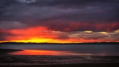 Just In Time (g0rsty) Tags: wellingtonpoint weather sky sunsetsandsunrisesgold sunset sun cloudsstormssunsetssunrises clouds