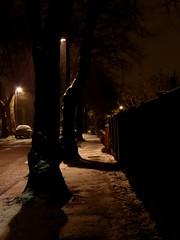 Snow in Manchester (stillunusual) Tags: manchester levenshulme m19 evening night dark snow snowing urban urbanscenery urbanlandscape cityscape city mcr england uk 2018