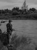 Day 49 of 365 - Fishing the Snake (SRivera) Tags: snakeriver 365dayproject2018 blackandwhite idahofalls idaho russfreemanpark unitedstates us