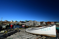 Peggy's Cove (Trevdog67) Tags: peggyscove fishingboats fishingvillage blue sky cloudless winter snowless february 2018 boat shacks novascotia canada picturesque quaint hoya polarizingfilter nikon d7500 sigma 1020mm