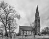 First Presbyterian Church (brianloganphoto) Tags: stone monochrome church historical bw goshen orangecounty conditions landmark landcape newyork overcast rain blackandwhite tree hudsonvalley unitedstates us