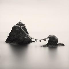 Meoto Iwa.Hasselblad 503cx, Delta 100. (Rafal Krol) Tags: bielsko sea delta100 ilford hasselblad dublin silence travel meotoiwa japan rafalkrol