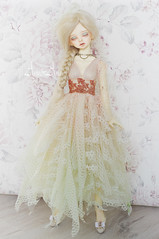 Dreamy Morning (AyuAna) Tags: bjd ball jointed doll dollfie ayuana design handmade ooak clothing clothes dress set fantasy romantic style outfit couture sewing fashion robe slim msd mnf minifee size dim dollinmind benetia hybrid dolllegend body