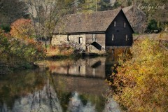 Ye Old Mill (socalgal_64) Tags: carolynlandi usa sciotapa pennsylvania monroecounty sciota old antique autumn fall relfections creek river stream bush trees building architecture history historical mill brinkersmill theoldmill yeoldmill oldmill texture historicalsite coth5